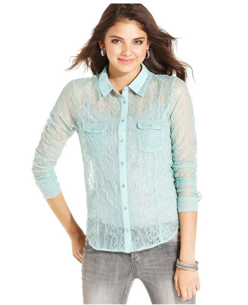 American Rag Lace Blouse, Macy's, $49