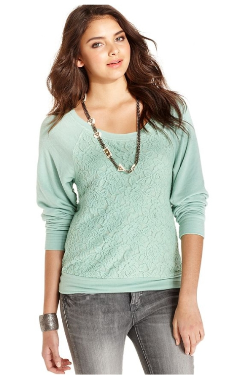 American Rag Lace Sweatshirt, Macy's, $24.99