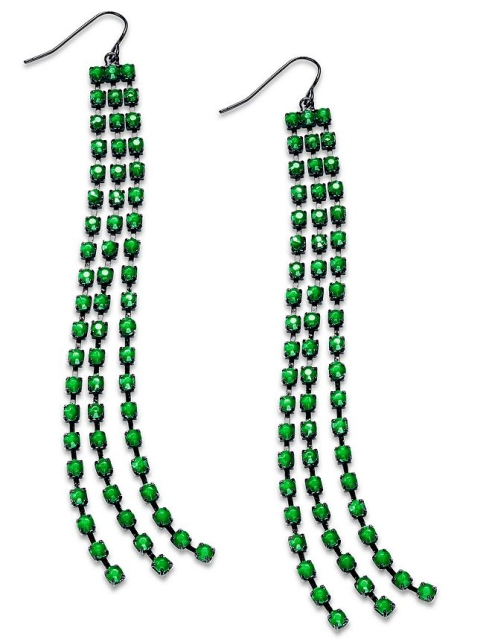 Bar III emerald drop earrings from Macys.com
