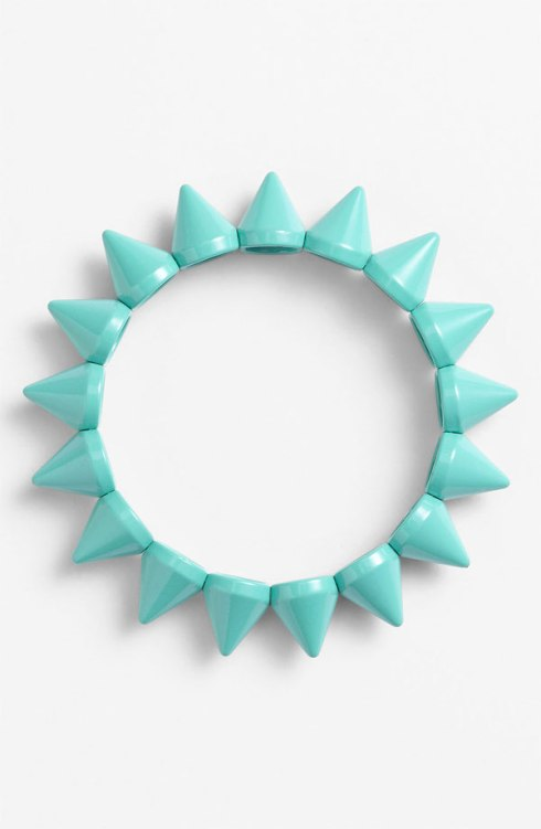 Fierce mint green spike bracelet, Nordstrom, $12