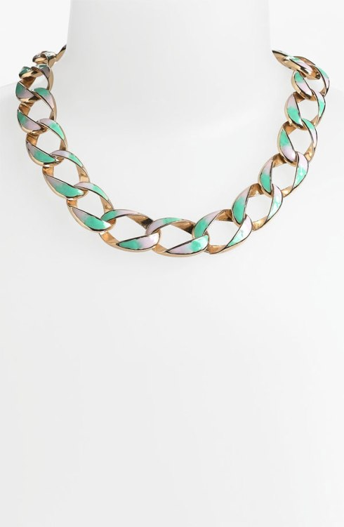 Minty chain link necklace, Nordstrom, $18!