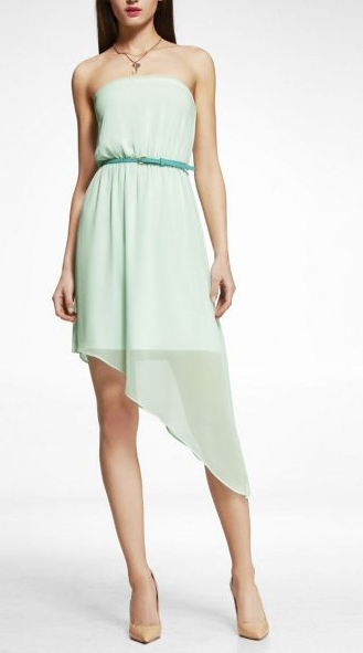 Mint green hi-lo dress from Express $69.90