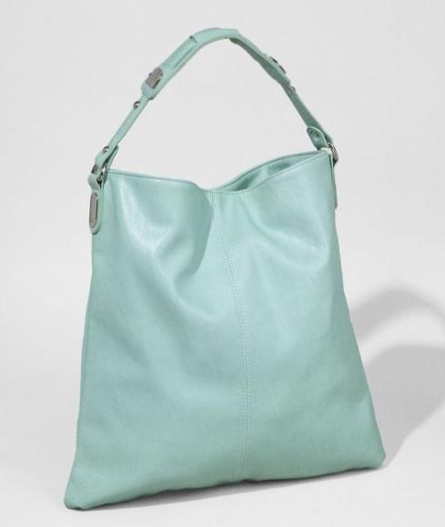 Mint green slouchy handbag from Express, $49.90