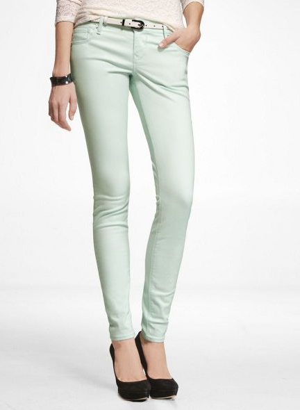 Mint Skinny Jeans, Express, $79.90