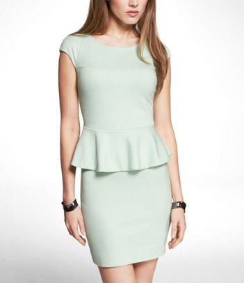 A minty peplum dress from www.express.com
