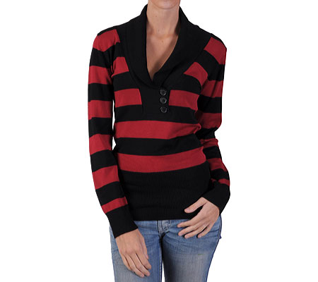 Red striped sweater, this one is from Shoebuy,