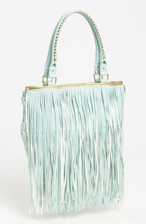 I own this one. So pretty. Steve Madden Fringe handbag, Nordstrom, $88