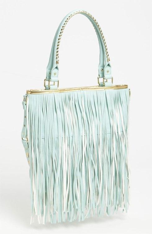 I own this one. So pretty. Steve Madden Fringe handbag, Nordstrom, $88