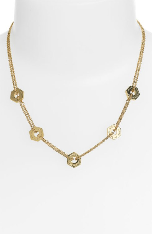 Bolts Station Necklace, MARC by Marc Jacobs, $98