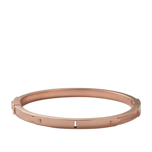 Keyhole Bangle, Fossil, $68
