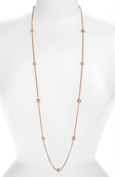 Turnlock Station Necklace, MARC by Marc Jacobs, $108