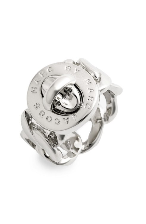 MARC by Marc Jacobs Turnlock Ring, $58, comes in many finishes