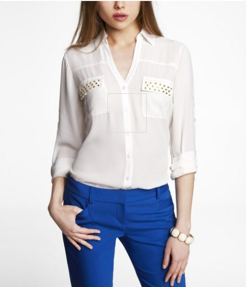 Express Studded Portofino Shirt, on sale for $35.94!